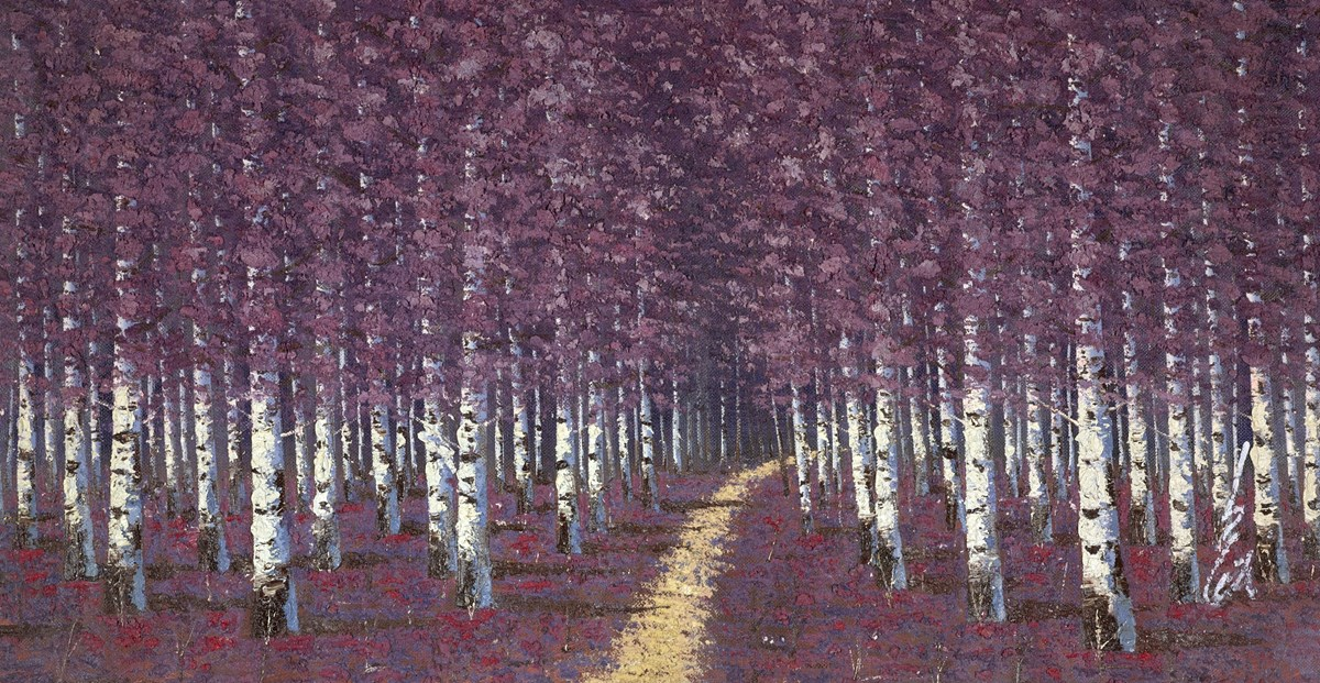 The Birch Forest V by inam -  sized 60x31 inches. Available from Whitewall Galleries